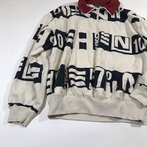 Nautica Men's 1/4 Zip Sweatshirt Size Large